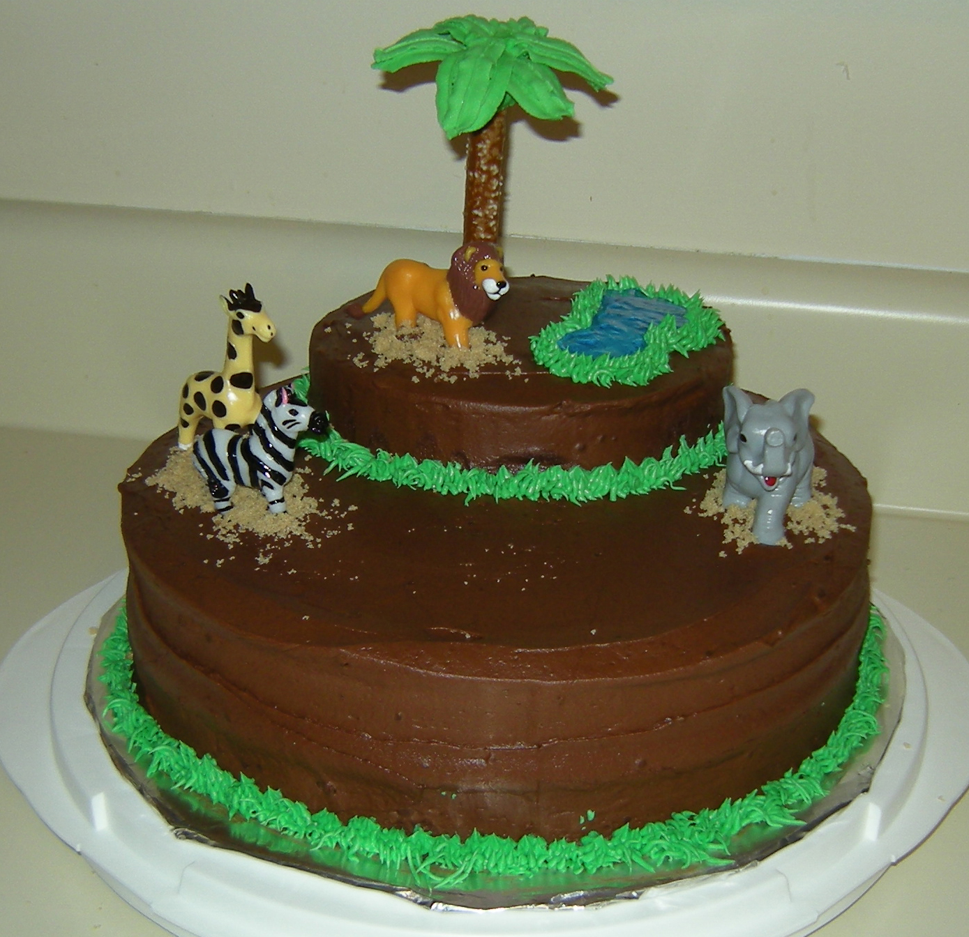 Jungle Cake Decoration Ideas : Jungle Baby Shower Decorate This