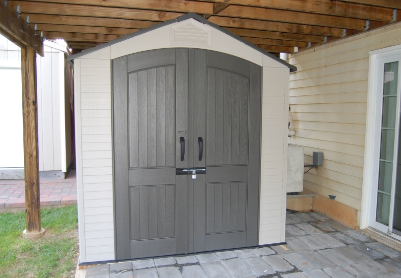 How to build a riding lawn mower shed guide lidya for Small lawnmower shed