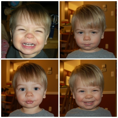 He's loves making faces, especially for the camera!