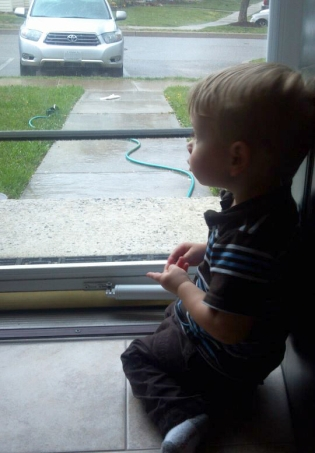 On the lookout for the ice cream truck