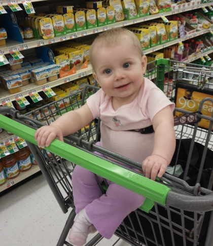 First time sitting in the cart!