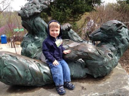 Caelan at the zoo