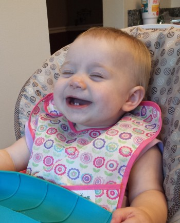 Laughing at dinnertime