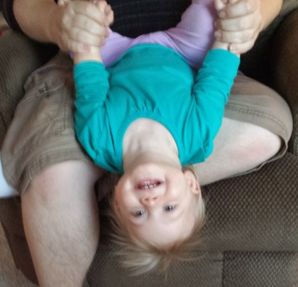 Upside down Leah!